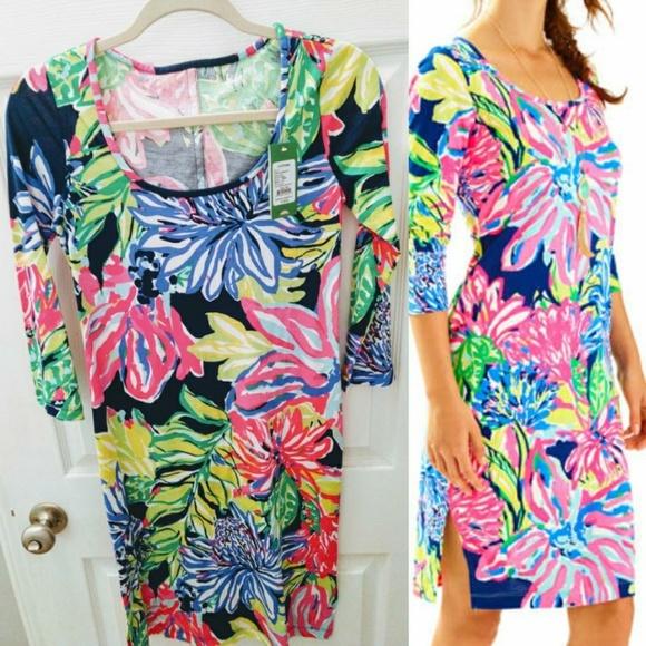 436d57d678630b Lilly Pulitzer Dresses | Kenzie Dress Travelers Palm Nwt | Poshmark